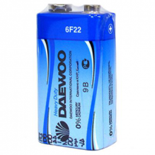 Элемент питания 6F22 (КРОНА) DAEWOO