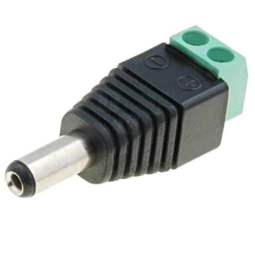 Штекер (122) DC 5.5 х 2.1 x 12.0 мм на кабель клеммник