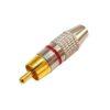 Штекер (136) RCA на кабель 6 мм  Ni/G -красный-
