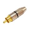 Штекер (137) RCA на кабель 6 мм  Ni/G -черный-