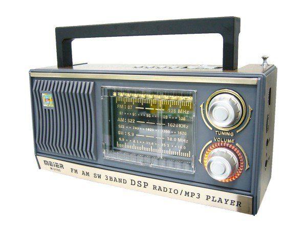 Радиоприемник MEIER M-U107 ЧЕРНЫЙ USB/SD/microSD