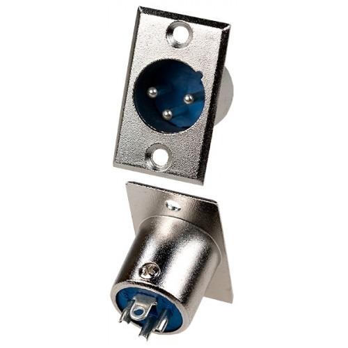 Штекер (147) XLR 3- pin на корпус   Ni