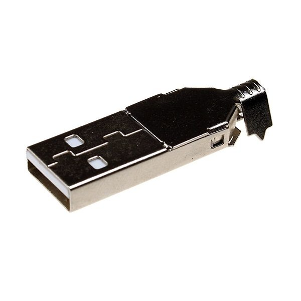 Штекер (177) USB-A-CP на кабель б/к  Ni
