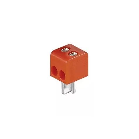 Штекер (197) для акустики 2 PIN DIN винт -красный-