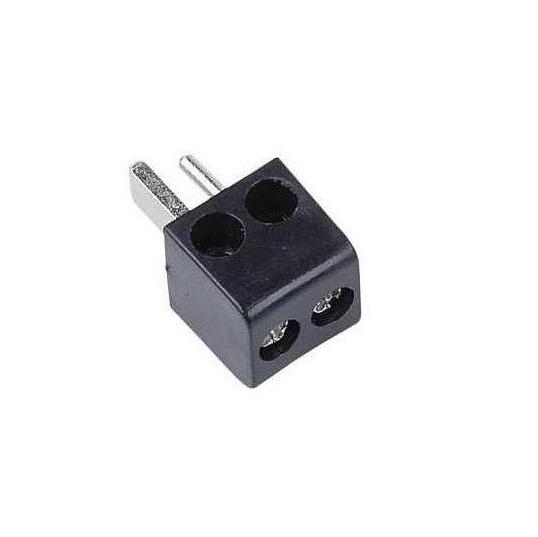 Штекер (198) для акустики 2 PIN DIN винт -черный-