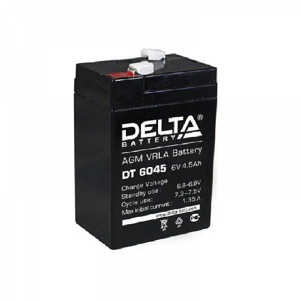 Аккумулятор 6V 4.5Ah DT 6045 DELTA