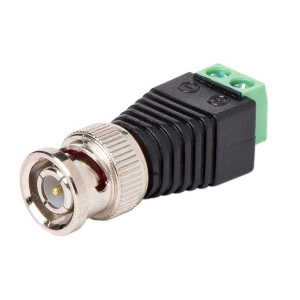 Штекер (212) BNC на кабель клеммник  Ni/Gold pin/Delrin