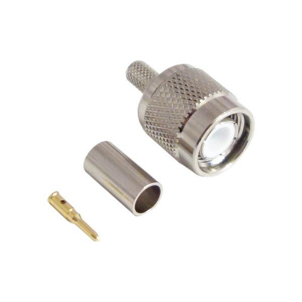 Штекер (219) TNC на кабель RG 58/U обжим  Ni/Gold pin/Delrin