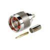 Штекер (228) N на кабель RG 58/U обжим  Ni/Gold pin/Teflon