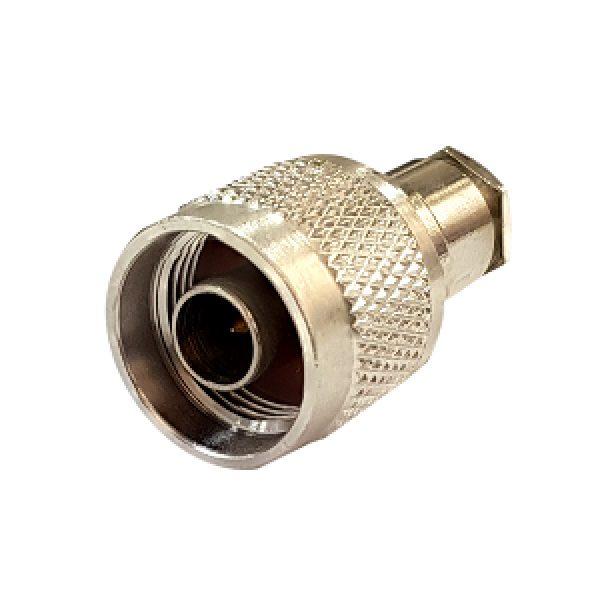 Штекер (229) N на кабель RG 58/U пайка  Ni/Gold pin/Backelite