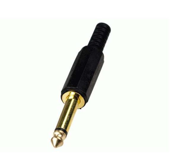 Штекер (23/1 ) 6.35 мм моно G/Pl с пружиной