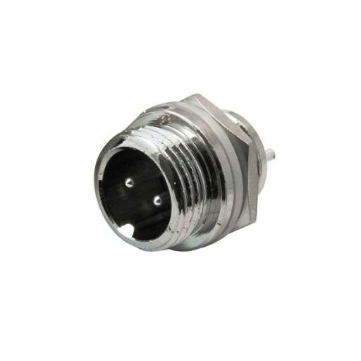 Разъем (244) M12 штекер miniMIC 2-pin на корпус 125V/5А