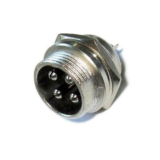 Разъем (254) M16 штекер MIC334 4-pin на корпус 125V/7А