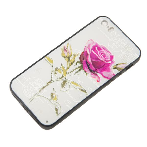 Чехол iPhone 5G бампер ЦВЕТОЧКИ