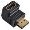 Переходник (296) A-7005 HDMI A(M)-HDMI A(F) угловой PERFEO