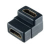 Переходник (297) A-7009 HDMI A(F)-HDMI A(F) угловой PERFEO