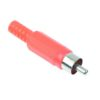 Штекер (34/1) RCA на кабель 4 мм  Ni/Pl -красный-