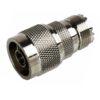 Переходник (344) штекер N - гнездо UHF  Ni/Silver pin/Delrin