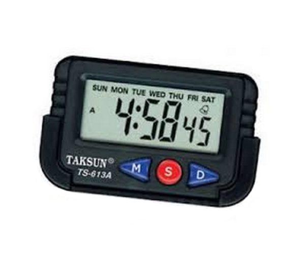 Часы автомобильные TAKSUN TS-613A-2 ЧЕРНЫЕ