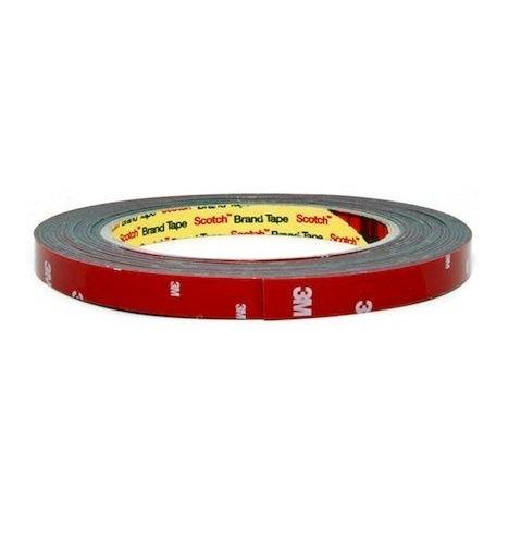 3M TAPE(ACRYL) оригинальный серый двусторонний скотч 06мм х 2.5м красная подложка