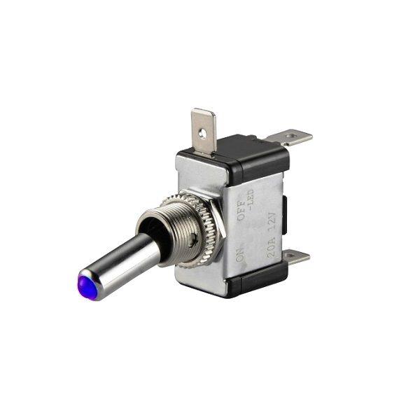 Тумблер (540) M12 OFF-ON ASW-07D LED12V 20A/12V 3c -синий-