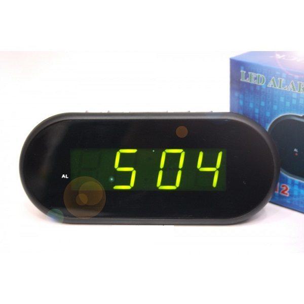 Часы VST712-2 НАСТОЛЬНЫЕ ЭЛЕКТРОННЫЕ ЗЕЛЕНЫЕ