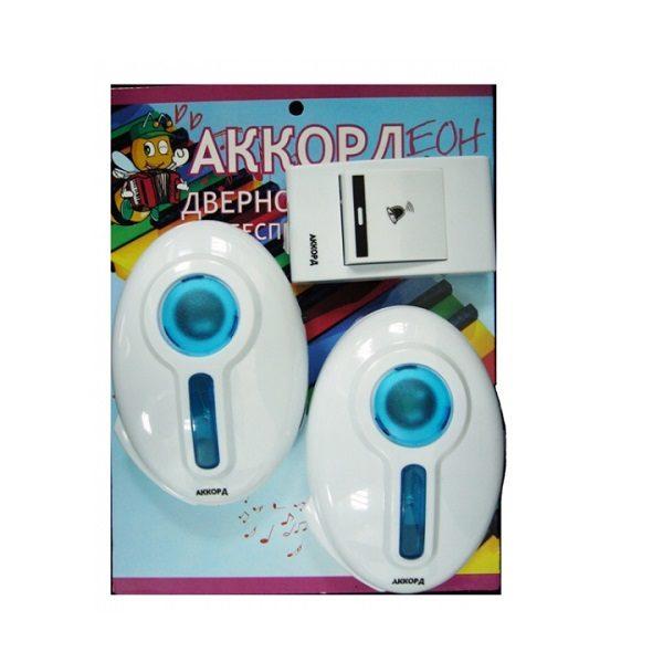 Эл.звонок Аккорд ZD7620 дистанц (80м) 2 звон./60