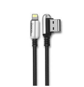 КАБЕЛЬ USB-iPhone 5-8 U17 УСИЛЕННЫЙ ЧЕРНЫЙ 1.2м