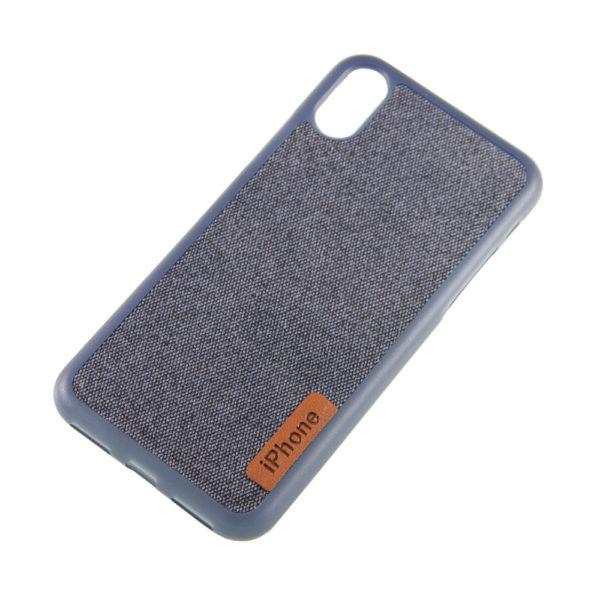 Чехол iPhone X бампер Джинс