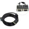 Шнур VGA 15pin шт/VGA 15pin шт 5м ( Феррит. кольца ) 5bites APC-133-050