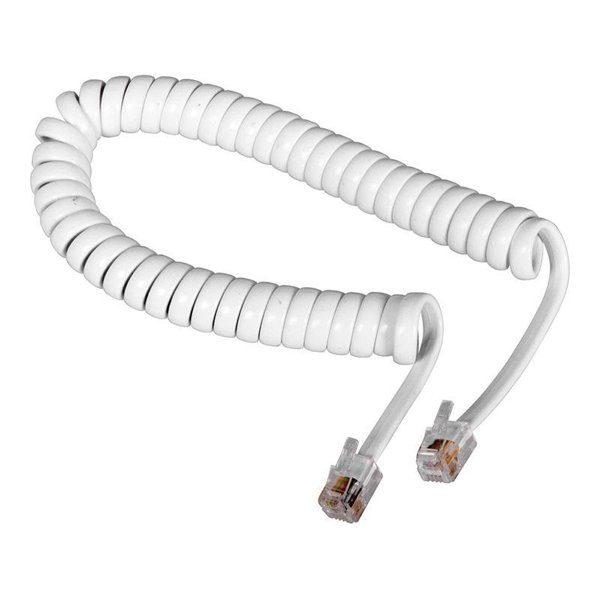 Шнур витой телефонный 2м белый ( FD-6120 ) Rexant