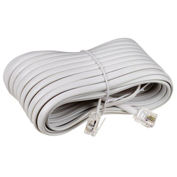 Удлинитель телефонный 10м (евро) белый