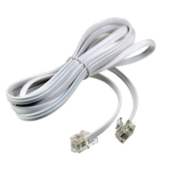 Удлинитель телефонный 2м белый ( FD-6113 ) Rexant