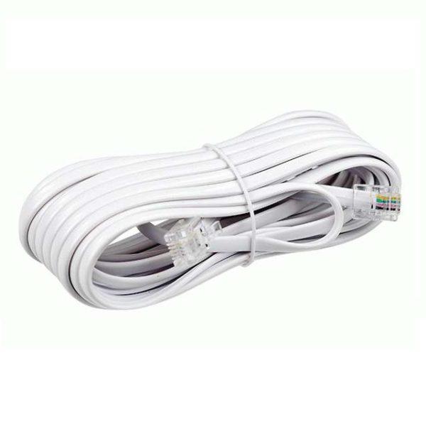 Удлинитель телефонный 5м белый ( FD-6113 ) Rexant