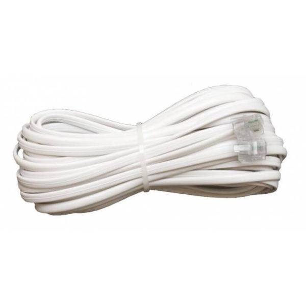 Удлинитель телефонный 7м (евро) белый