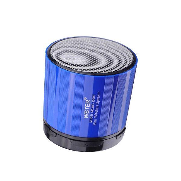 Аудио-система WS-230BT BLUETOOTH/USB/mSD/FM СИНЯЯ WSTER