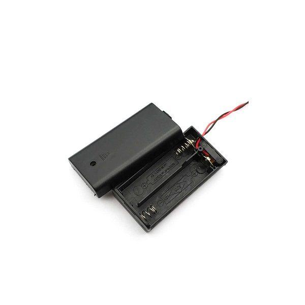 Батарейный отсек AA 2x1 кейс OFF-ON провод 150 мм