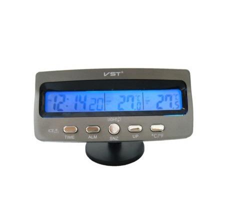 Часы автомобильные VST-7045 (темп., будильник, дата)
