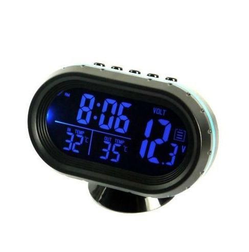 Часы автомобильные VST7009V-5 (температура, будильник, вольтметр)