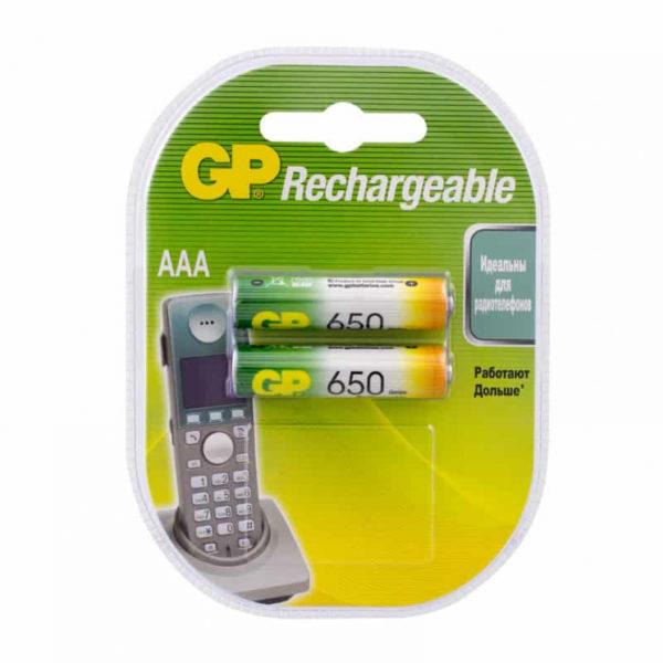 Аккумулятор R03 (650 mAh) GP