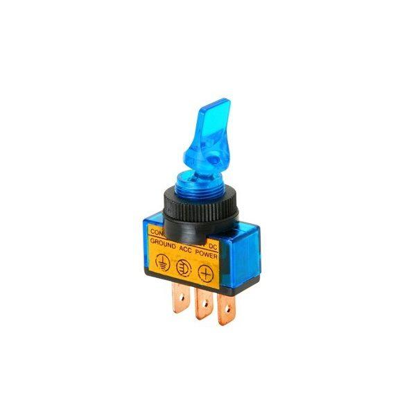 Тумблер (543) M12 OFF-ON RWC-405 lamp12V 20A/12V 3c -синий-