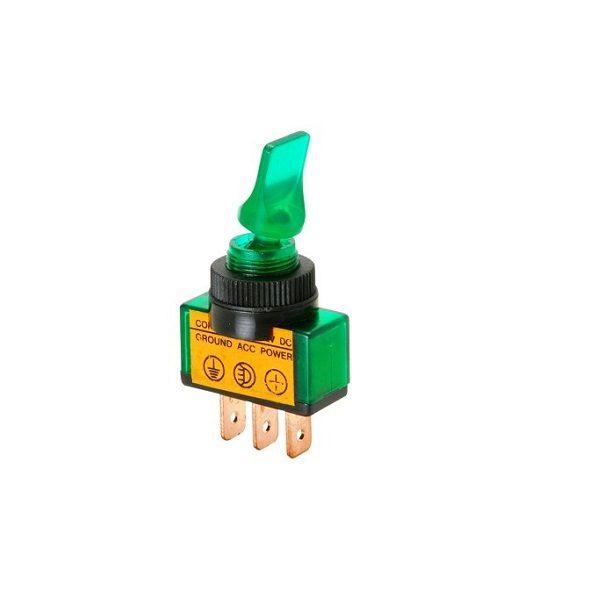 Тумблер (542) M12 OFF-ON RWC-405 lamp12V 20A/12V 3c -зеленый-