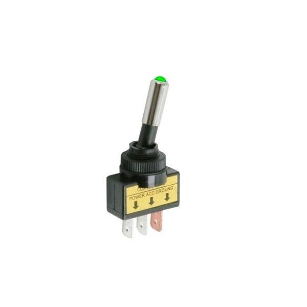 Тумблер (544) M12 OFF-ON RWC-409 LED12V 15A/12V 3c -зеленый-