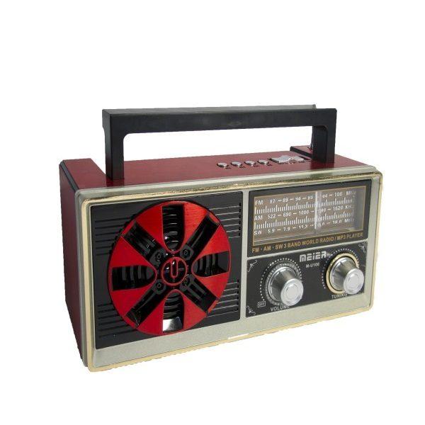 Радиоприемник MEIER M-U106 ЧЕРНЫЙ USB/SD/microSD