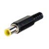 Штекер (566) DC 6.0 x 1.0 pin x 9.5 мм реверс