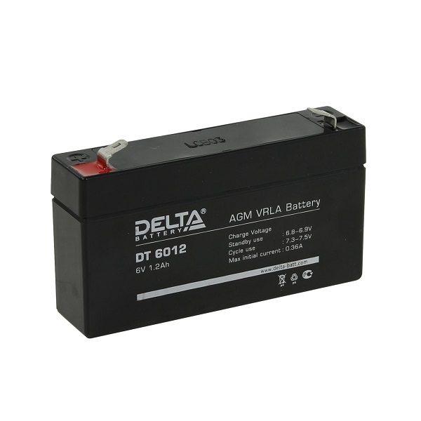 Аккумулятор 6V 1.2Ah DT 6012 DELTA