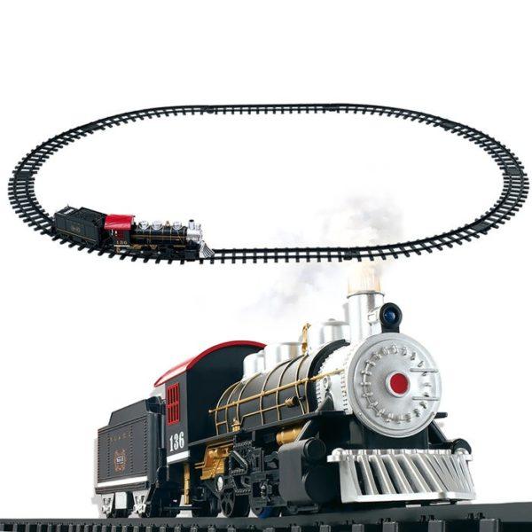 Железная дорога HuanQi  (дым, свет, звук, 12 деталей)