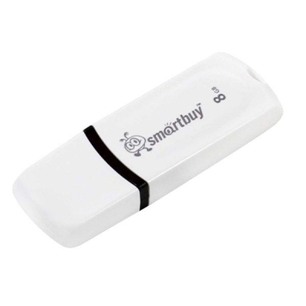ФЛЭШ-КАРТА SMART BUY 8GB PAEAN БЕЛЫЙ ГЛЯНЕЦ USB