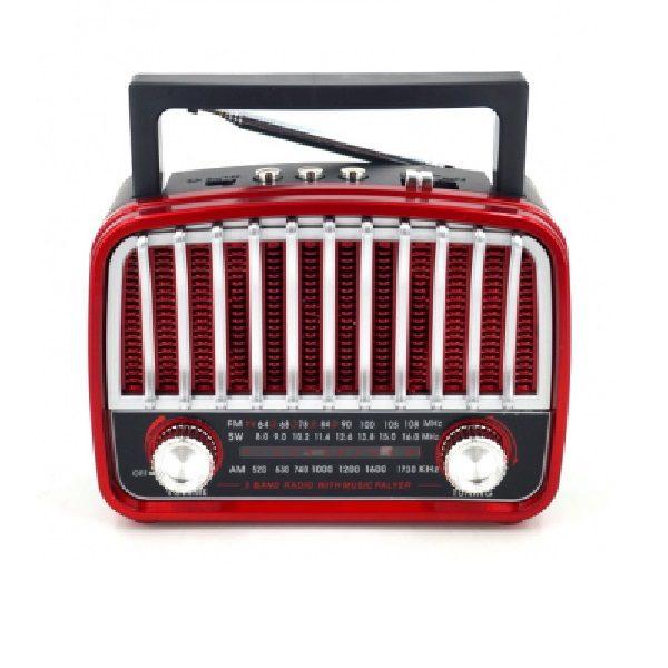 Радиоприемник HAONING HN-290 КРАСНЫЙ USB/SD/microSD/ФОНАРЬ