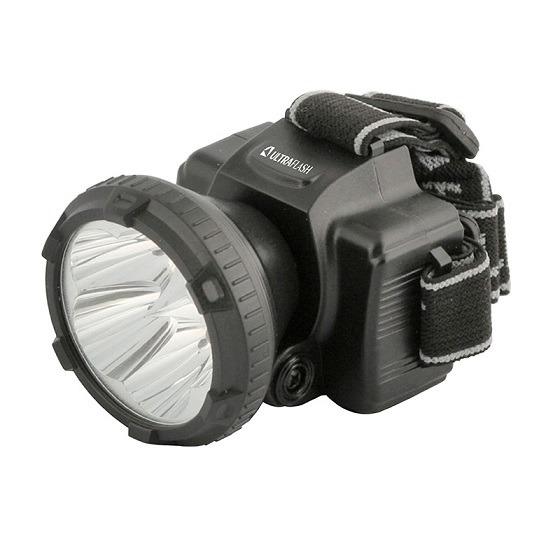Фонарь налобный акк. LED 5365  5 LED ЧЕРНЫЙ ULTRAFLASH